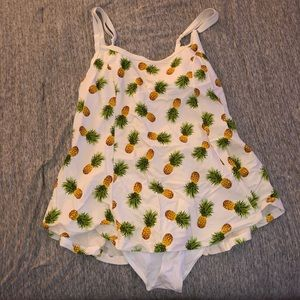 Forever 21 plus size pineapple swim dress